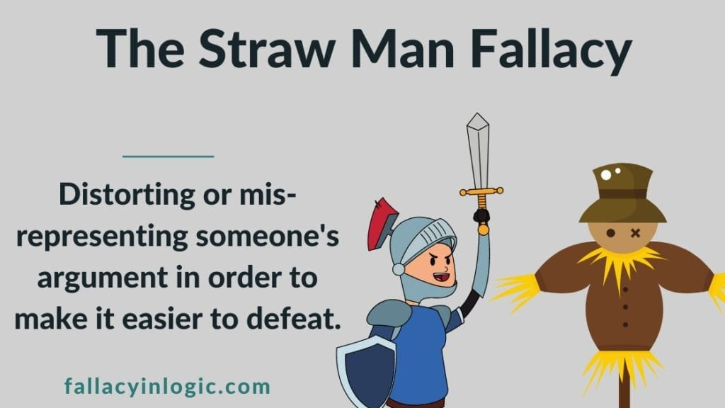 Beginner's Guide to the Straw Man Fallacy (With Examples) - Fallacy In Logic