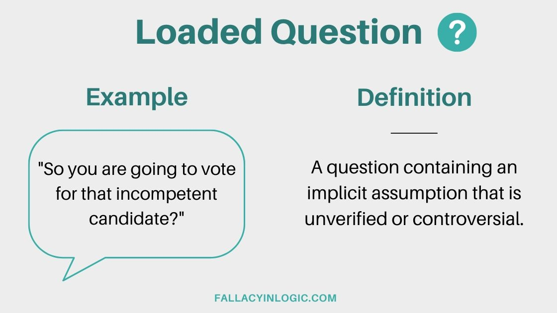 What Is The Loaded Question Fallacy  Definition And
